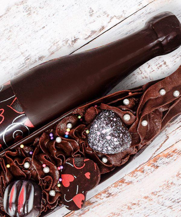 Botella de chocolate